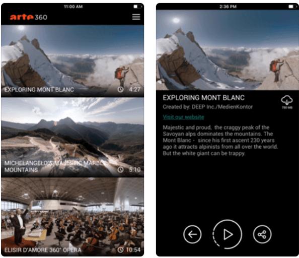 Arte 360 VR game app