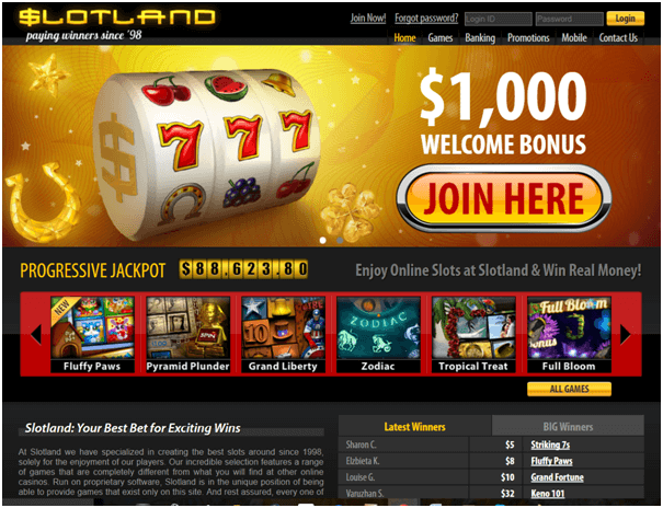 Slotland casino samsung app bonuses