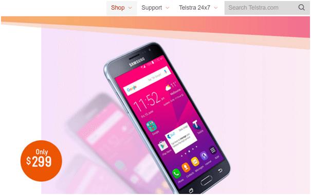 Telstra plan for Samsung Galaxy J3